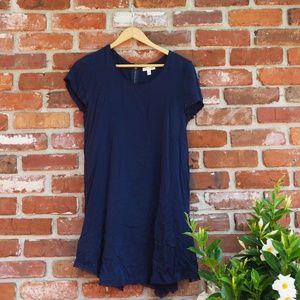 UO silence + noise Navy Blue T Shirt Dress